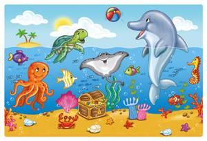 Bilde av Bordbrikker i plast, 45 x 30 cm, Ocean Friends (4
