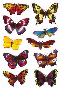 Bilde av DECOR Stickers Sommerfugler, glitter, 2 ark (10