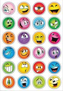Bilde av DECOR Stickers Emojier, glitter, 2 ark (10 pakk)