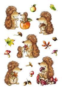 Bilde av DECOR Stickers Pinnsvin, 3 ark (10 pakk)