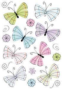 Bilde av DECOR Stickers Moderne sommerfugler, folie, 2 ark
