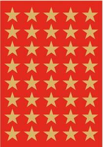 Bilde av DECOR Stickers Gullstjerner, gullfolie 3 ark (10