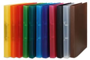 Bilde av Sortiment smal ringperm i transparent plast, A4,