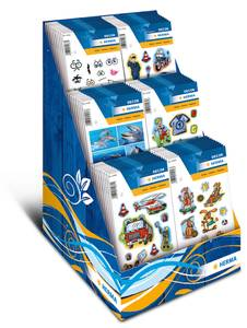 Bilde av Display DECOR Stickers, 6 motiver, 60 pakninger