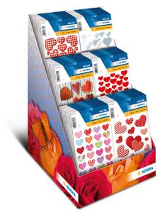 Bilde av Display In Love, DECOR Stickers 6 motiver, 60