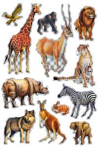 Bilde av MAGIC Stickers Dyr i Afrika, folie (prismatic), 1