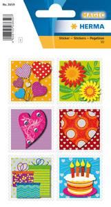 Bilde av MAGIC Stickers With Love, 3D-folie, 1 ark (10
