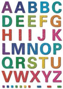 Bilde av MAGIC Stickers Store bokstaver, glitter, 1 ark