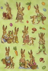 Bilde av MAGIC Stickers Harefamilie, glitter, 2 ark (10