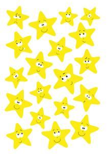 Bilde av MAGIC Stickers Stjerner i neongul, 1 ark (10