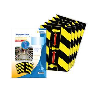 Bilde av Covid gulvmerke Hold avstand, sort og gul, 1 ark