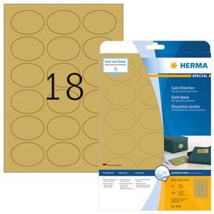 Bilde av SPECIAL gull etiketter glossy, 25 ark, 58,4x42,3