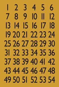Bilde av VARIO talletiketter 13x12 mm, 1-100,svart/gull, 4