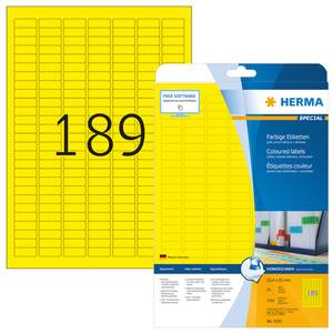 Bilde av SPECIAL fargede etiketter 20 ark, 25.4x10 gul