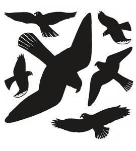 Bilde av Fuglemotiver inn- og utvendig bruk, 30 x 30 cm,