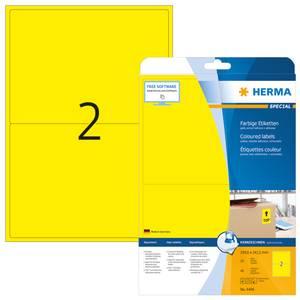 Bilde av SPECIAL fargede etiketter 20 ark, 199.6x143.5 gul