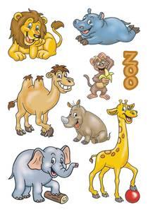 Bilde av DECOR Stickers Dyr i dyreparken, 3 ark (10 pakk)