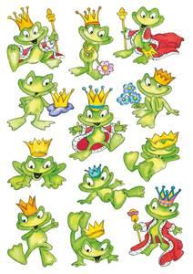 Bilde av DECOR Stickers Glade frosker 3 ark (10 pakk)