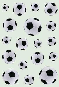 Bilde av DECOR Stickers Fotball, 3 ark (10 pakk)