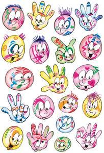 Bilde av DECOR Stickers Fargerike ansikter, 3 ark (10