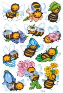 Bilde av DECOR Stickers  Morsomme bier, 3 ark (10 pakk)