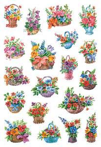 Bilde av DECOR Stickers  Blomsterkurv, 3 ark (10 pakk)