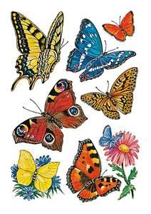 Bilde av DECOR Stickers Sommerfugler, 3 ark (10 pakk)