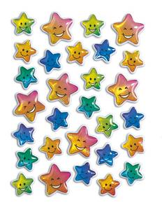 Bilde av MAGIC Stickers Stjerner farger (stone), 1 ark (10