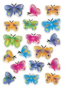 Bilde av MAGIC Stickers Sommerfugler (stone), 1 ark (10