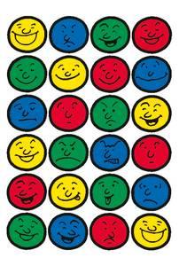 Bilde av DECOR Stickers Ansikter, papir, 3 ark (10 pakk)