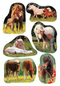 Bilde av DECOR Stickers Bilder av hester, papir, 3 ark (10