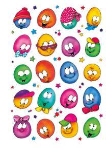 Bilde av DECOR Stickers Glade ansikter, papir, 3 ark (10