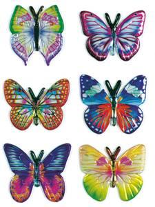 Bilde av MAGIC Stickers Sommerfugler i stoff, 1 ark (10