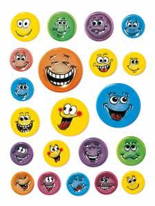 Bilde av MAGIC Stickers Smileys, preget overflate, 1 ark