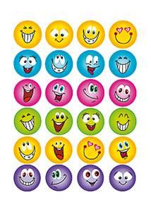 Bilde av MAGIC Stickers Smilies glitter folie, 1 ark (10