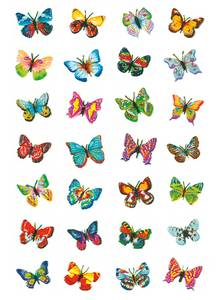 Bilde av MAGIC Stickers Sommerfugler, glitter folie, 1 ark
