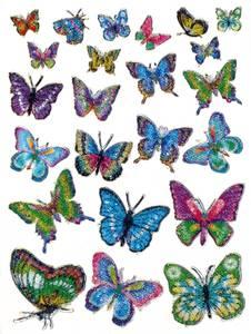 Bilde av MAGIC Stickers Sommerfugler med krystaller, 1 ark