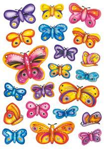 Bilde av DECOR Stickers Design sommerfugler, 3 ark (10