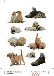 Bilde av DECOR Stickers Hundevalper papir, 3 ark (10 pakk)