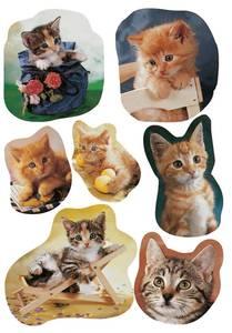 Bilde av DECOR Stickers Fotogene kattepus papir, 3 ark (10