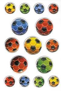 Bilde av MAGIC Stickers Fotballer, preget overflate, 1 ark