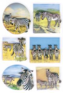 Bilde av MAGIC Stickers Sebraer i 3D-folie, 1 ark (10