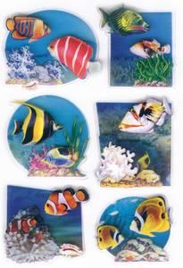 Bilde av MAGIC Stickers Fisker i 3D-folie, 1 ark (10 pakk)