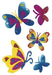 Bilde av MAGIC Stickers Sommerfugler glitter 1 ark, (10
