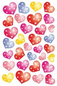 Bilde av MAGIC Stickers Hjerter flere farger i folie, 1