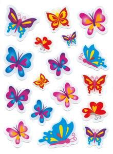 Bilde av MAGIC Stickers Sommerfugler, plastmateriale, 1