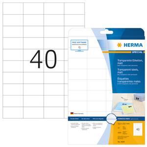 Bilde av SPECIAL transparente etiketter 25 ark 52.5x29.7