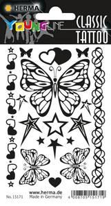 Bilde av CLASSIC Tattoos Black Art, Sommer, 15 motiver, 1