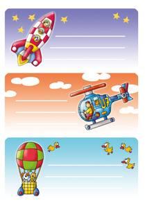 Bilde av VARIO boketiketter Flyger 3 ark pr. pakke (10
