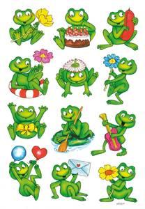 Bilde av DECOR Stickers Frosker, papir, 3 ark (10 pakk)